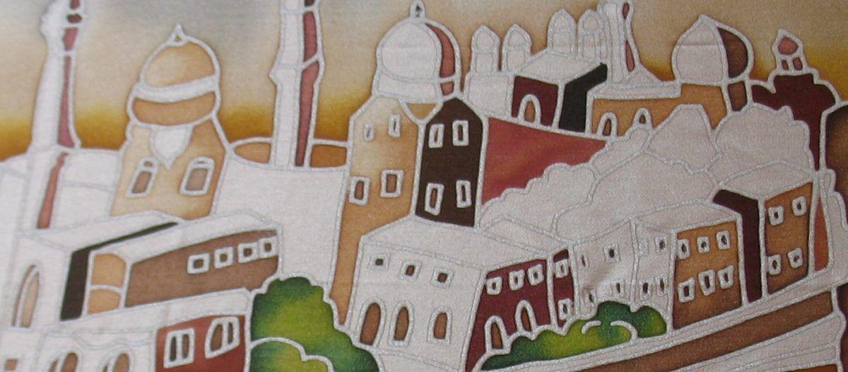 Így készült a nagy selyemkép