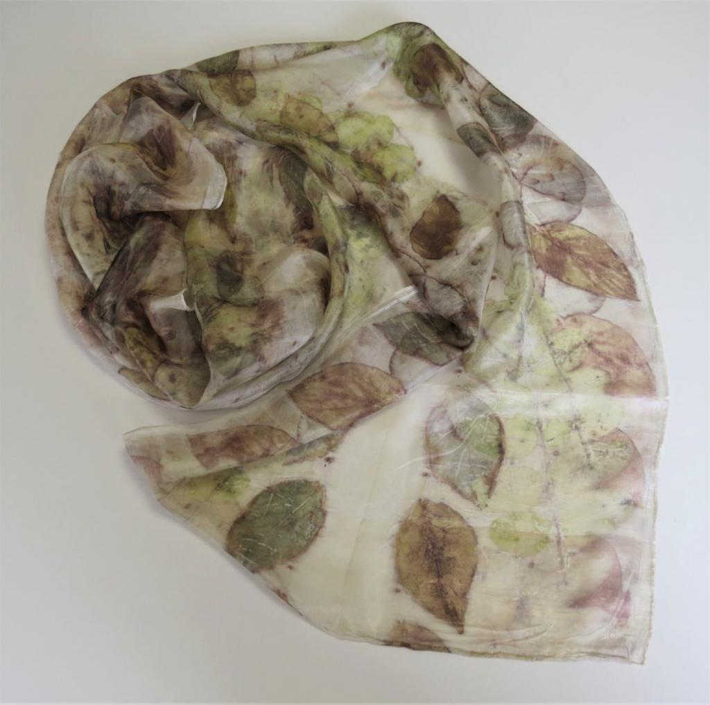 a kész ecoprint selyemsál