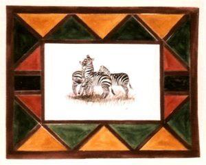 akvarell festés, zebrák/1