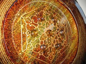 Mandala motívumos bronzos tál