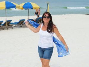 Panama City fehér homokos partja