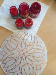Mandala festés selyem ablakképre