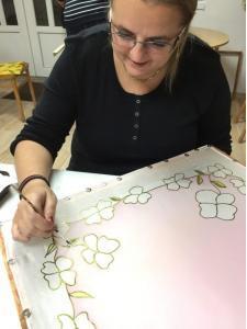 Selyemkendő festő workshop