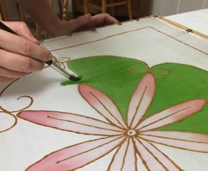 selyem kendő festő workshop