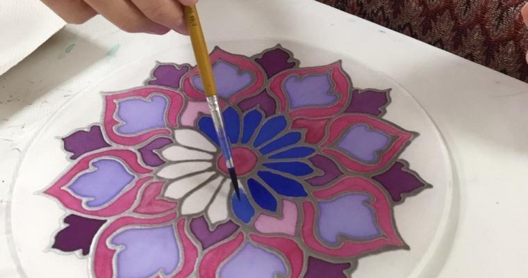 Selyem mandala festés-workshop -Betelt!
