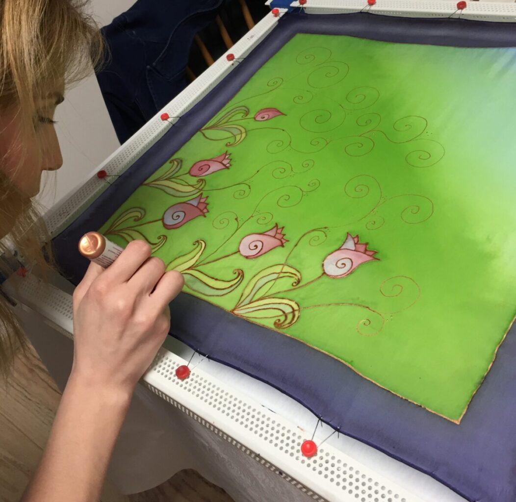kendő festő workshop